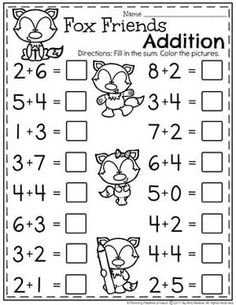 Kindergarten Addition Worksheets - Math Units for Kindergarten. II Do you need Awesome Addition Worksheets and Centers for Kindergarten Math? Kids LOVE these fun, interactive math activities, and you will too. Kindergarten Addition Worksheets, First Grade Math Worksheets, Preschool Worksheets, Math For Kindergarten, Teaching Addition, Money Worksheets, Math 8, Subtraction Worksheets, Numbers Preschool