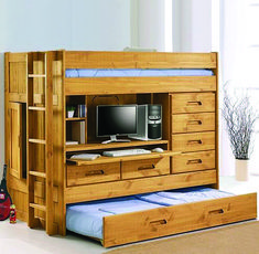 Bunk bed with futon and desk typically includes a twin bed on top and full size futon sofa downstairs. You can use a futon bed as a sofa bed down during Cheap Bunk Beds, Bunk Beds Small Room, Bunk Bed With Desk, Metal Bunk Beds, Bunk Beds With Stairs, Kids Bunk Beds, Small Rooms, Futon Bunk Bed, Sleeping Loft