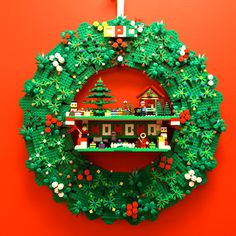 2013 Concord Pediatric Dentistry - Office Christmas Wreath, #Lego Wreath