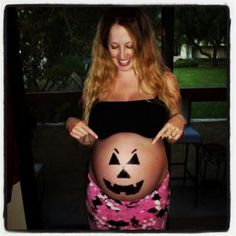 cute pregnant belly idea for a halloween this my little pumpkin in my belly the - Pregnant Halloween Painted Bellies