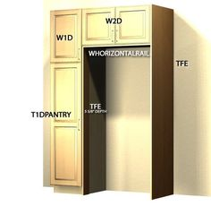 Attrayant Standard Refrigerator Enclosure With Pantry. But Have Pantry On Both Sides.