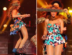 Beyonce performs in Kenzo on The Mrs. Carter Show World Tour.