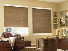 Graber Woven Wood Office Shades