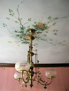"More Ceiling Murals: Rose Medallion""> Pine Street Studios > More Ceiling Murals: Rose Medallion Source Ceiling Murals, Wallpaper Ceiling, Ceiling Painting, Ceiling Ideas, Ceiling Lights, Interior And Exterior, Interior Design, Ceiling Medallions, Interior Inspiration"