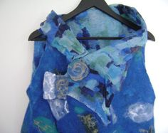 Nuno Felt Vest in Cobalt Blue -    Edit Listing  - Etsy