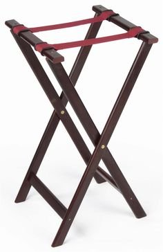 """31"""" Wooden Folding Tray Stand - Mahogany"""