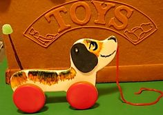 Donated Gingerbread Display for City Harvest, NYC.  This is an authentic vintage pull toy made from Gingerbread with a licorice ... Rolling Pin Productions