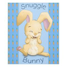 #Snuggle Bunny Blue Fleece Blanket - #giftideas for #kids #babies #children #gifts #giftidea