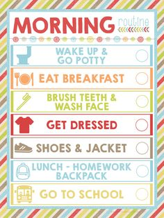 With the kiddos heading back-to-school, you can make mornings more manageable with this FREE Morning Routine printable! #fuelforschool #ad