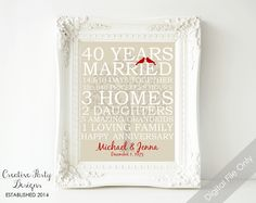 ... Anniversary gifts for parents, 35th wedding anniversary gift and