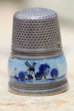 Fine Vintage Antique Sterling Silver Guillouche Enamel Dutch Sewing Thimble | eBay  Jul 29, 2013 / US $109.99 / 3,608.71 RUB