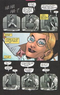 """So, what did you want to talk about, Harley?"" OMG This is it!! Harleen Quinzel becomes Harley Quinn. I need this comic. ""MAD LOVE"""