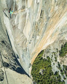 Photo: @ChrisBurkard Over 30 pitches & an overall grade of 5.14d, Dawn Wall, the southeast face of El Capitan known for its morning light is one of the hardest big wall routes in the world. A route most climbers can only dream of sending it let alone be willing to put in the time.. Pictured, @kjorgeson accompanied by @TommyCaldwell on their historic ascent of Dawn Wall back in January 2015 at Yosemite National Park.