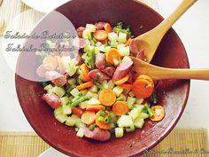 Salada de Batatas e Salsicha Frankfurt - Potato and Frankfurt Sausage Salad