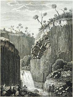 ~Alexander von Humboldt~1810,  Basalt rock formation near the Real el Monte silver mine in Northeast Mexico