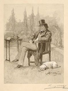 Henry Irving at Home, Henry Wolf, 1881, Copy after Frederick Barnard, Harper's Monthly (Publisher), photomechanical wood engraving on paper, image: 6 3/8 x 4 3/4 in. (16.3 x 12.0 cm), Smithsonian American Art Museum, Transfer from the Archives of American Art, Smithsonian Institution, 1973.130.9