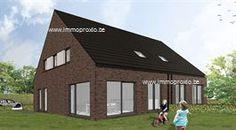 Laatste twee nieuwbouw woning te koop in Zelzate, deze energievriendelijke woning bestaat op het gelijkvloers uit een inkomhal met apart toilet en ber...