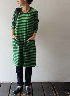 marimekko--borderline PJs, but I still want it! Crazy Outfits, Pretty Outfits, Cool Outfits, Fashion Outfits, Stylish Clothes For Women, Urban Street Style, Dress Hats, New Wardrobe, Well Dressed