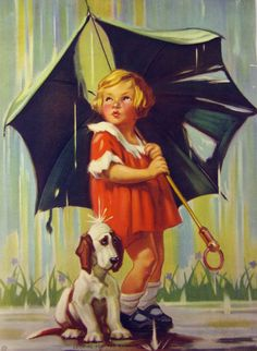 ''Looking for the Rainbow'' vintage illustration, via etsy