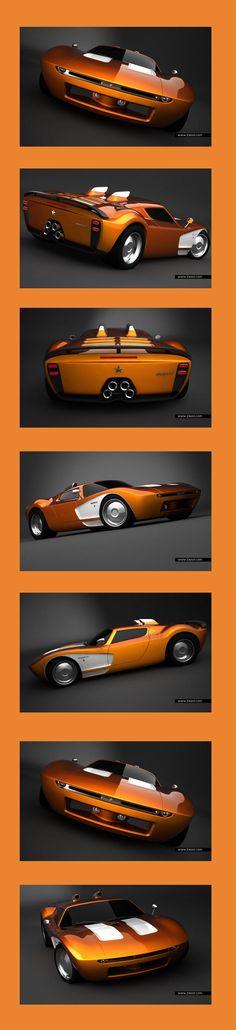 Aurora GT Concept #LuxuryCars #VintageCars #SportCars #ConceptCars