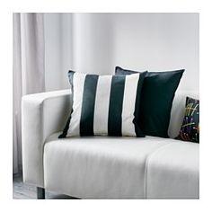 VÅRGYLLEN Tyynynpäällinen, valkoinen, musta - IKEA