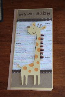 Baby Shower card made with Cricut Create a Critter