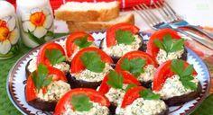 Predjedlo z baklažánu s Feta syrom a cesnakom - Báječné recepty Caprese Salad, Feta, Insalata Caprese