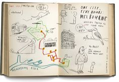 One city, five hours depicted in a series of wonderful map illustrations by Oliver Jeffers.