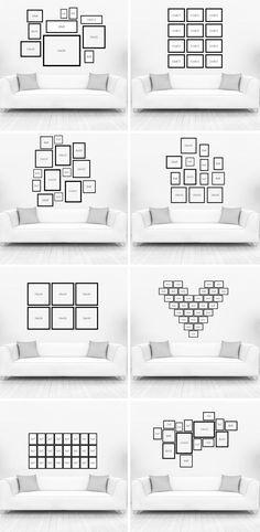 Como criar uma parede de quadros?