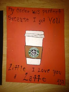 """""""My order was perfect because i got you"""" """"Little i love you a latte"""" starbucks painted canvas Alpha Chi Omega Zeta Phi Big little"""