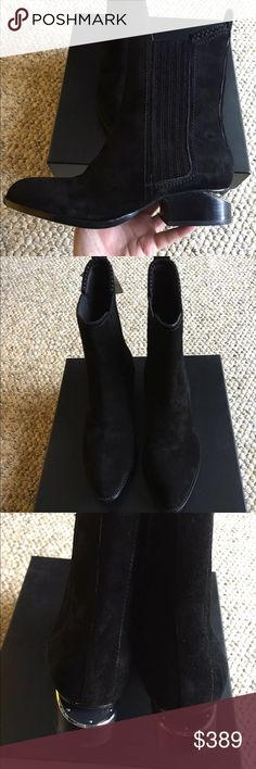 Authentic Brand New Alexander Wang Anouck Boots Authentic Brand New Alexander Wang Suede Anouck boots with silver Cut in size EUR36 comes with a dust bag and original box.  Fast Shipping. Alexander Wang Shoes Ankle Boots & Booties