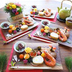Japanese New Year Food, Japanese Dishes, Asian Recipes, Healthy Recipes, New Year's Food, Food Decoration, Food Presentation, Food Design, Food Plating