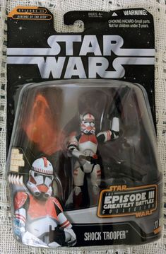 Hasbro Star Wars Greatest Hits Episode 3 Shock Trooper Action Figure. This figure is brand new (never opened).. The box is in GoodCondition. Please see pictures