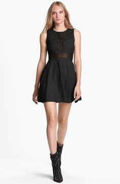 ASTR Sheer Panel Fit & Flare Dress available at #Nordstrom