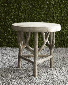 H6AAV Artemis Faux-Bois Side Table