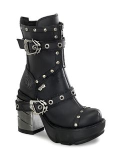 "Women's ""Sinister 201"" Vegan Boots by Demonia (Black)"