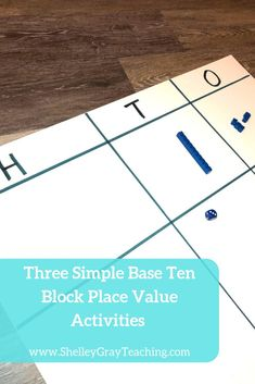Wondering how to use that set of Base Ten blocks in your classroom to introduce place value? Here are three different introductory place value activities that require little to no prep. Race to 100, How Many Ways, What's the Value?