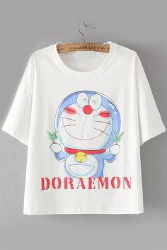 camiseta Doraemon-blanco 10.40