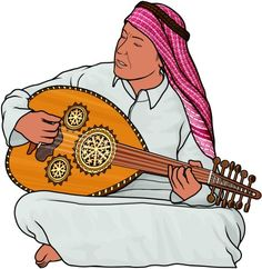 Oud player / Arabian musical instruments
