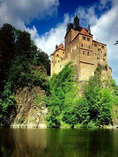 Kriebstein castle near the town of Waldheim in the German state of Saxony.