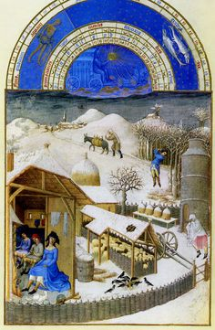 February Book of Hours Duc de Berry Limbourgh Brothers
