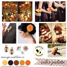 blue, brown and orange weeding | byMelissaBee: MelissaBee Weddings {Color Palettes}