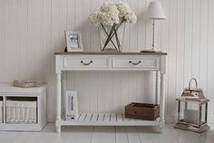 The White Lighthouse hallway furniture. Browse our range of small hall furniture, hallway console tables and hall storage to match every style of interiors, size and budget. Free UK delivery on most hall pieces Large Hallway Furniture, Hall Furniture, Cottage Furniture, Furniture Styles, Shabby Chic Furniture, Living Room Furniture, Furniture Ideas, Cheap Furniture, Luxury Furniture