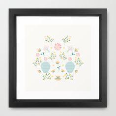 Italian garden composition Framed Art Print by Valeria Frustaci   Society6