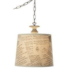 decoupage lamp shade