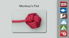 Animation shows how to tie a Monkey's Fist in a simple step-by-step video from the world's #1 knot site - Animated Knots by Grog.