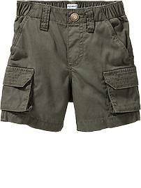 Canvas Cargo Shorts for Baby; old navy