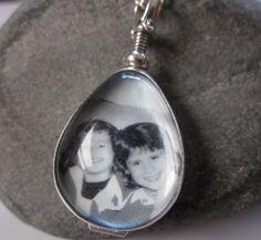 Double sided glass and sterling teardrop  locket by underhercharm, $79.00