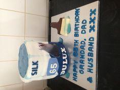 Paint pot and brush cake #vikalicious cakes