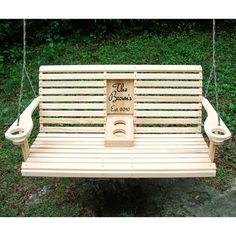 "I want a back porch swing so bad!  (Please convince my husband that I need this. ) Starly's ""Pick Your Insert"" 4ft. Rollback Armrest Porch Swing"